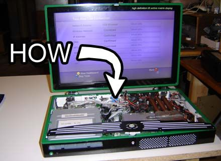 Xbox 360 laptop I have both but that looks really difficult.