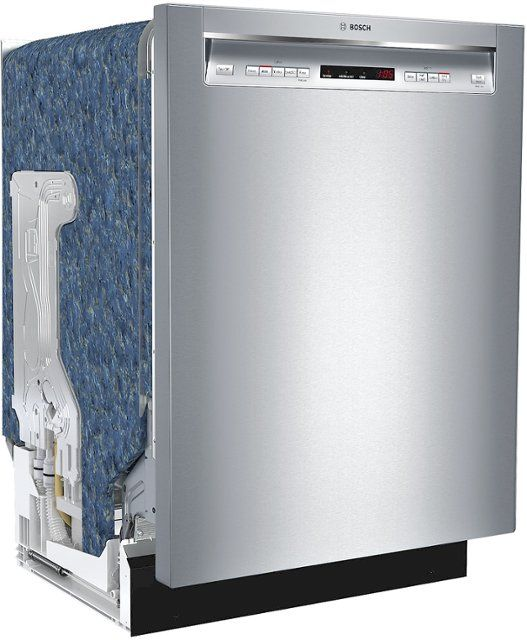 Bosch 300 Series 24 Recessed Handle Dishwasher With Stainless Steel Tub Stainless Steel Shem63w55n Best Buy Steel Tub Tub Cool Things To Buy