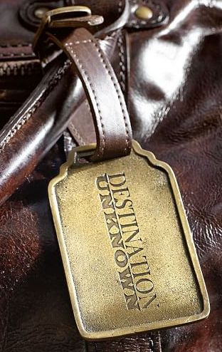 Destination Unknown luggage tag