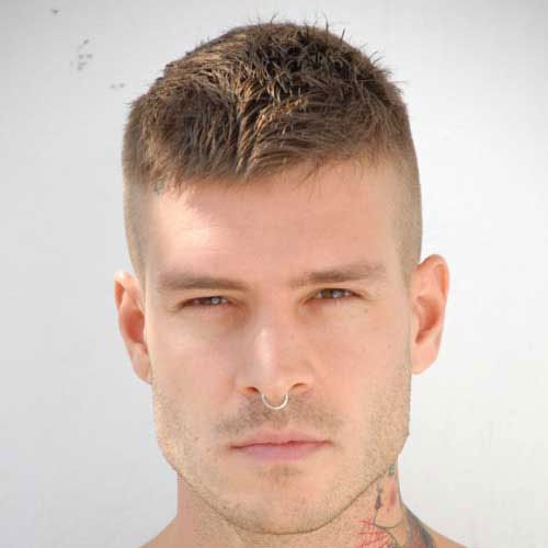 Military Haircuts For Men Brush Cut Haircuts And Military - Mens hairstyle army cut