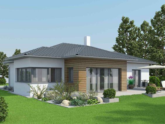 Fertigteilhaus walmdach  VARIO-HAUS Bungalow S141 #gibtdemLebeneinZuhause, Einfamilienhaus ...