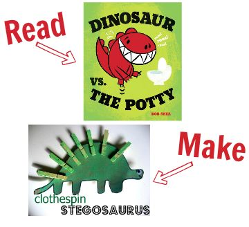 Craft for dinosaur vs the potty and 24 others for other popular kids books.
