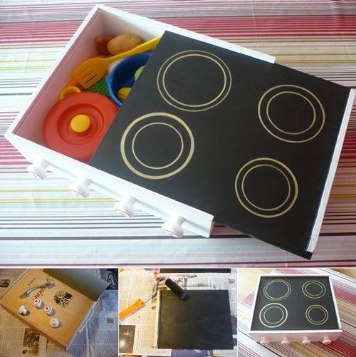 DIY: Convierte una caja de vino en una cocinita