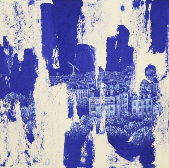 """Saatchi Art Artist Jieun Park; Painting, """"52. 4H30-paris"""" #art"""