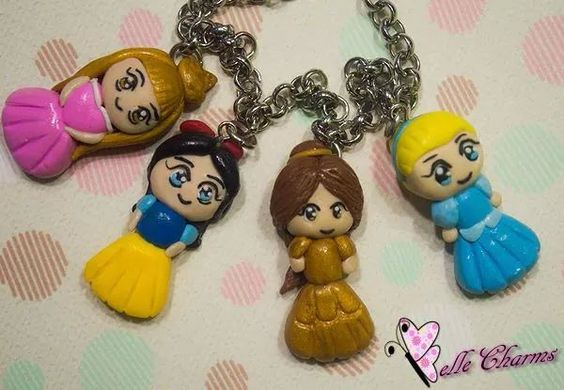Disney Princess  #bellecharms  #charm #chibi #disney #princess #handmade #clay #polymer