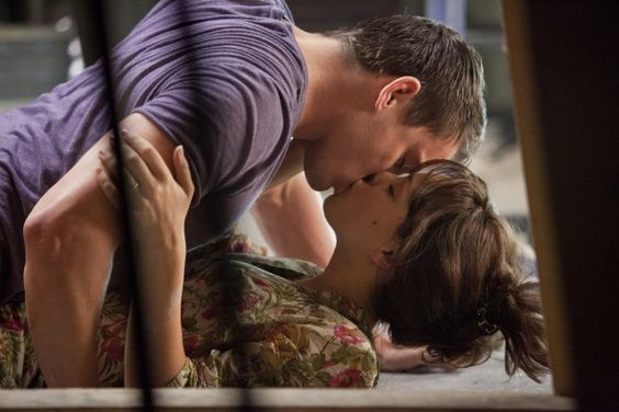 Pin for Later: The Best Movie Kisses of All Time The Vow Leo (Channing Tatum) and Paige (Rachel McAdams) share a steamy kiss on the floor.