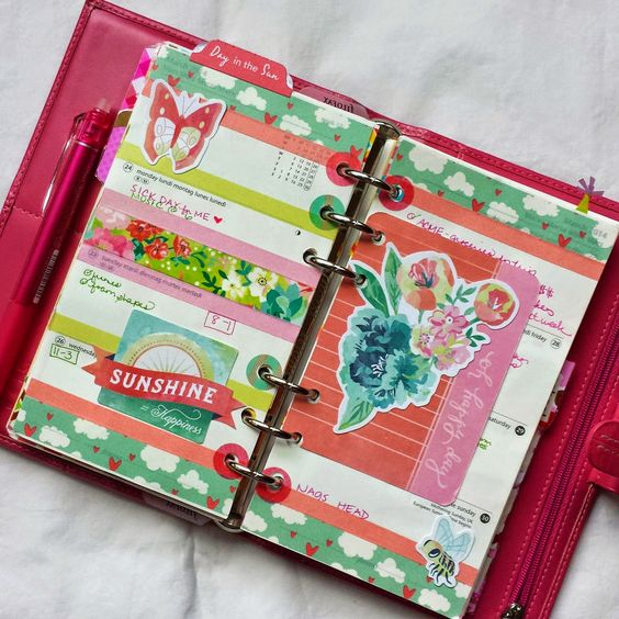 Journal / Planner - Bits and Pieces...: Hello Kitty and Pretty in Pink