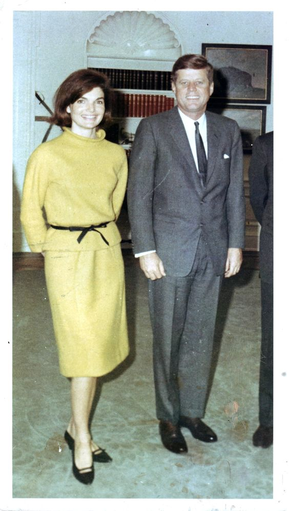 Jack and Jackie in the Oval Office Oct 1963. This was given to me by Capt Cecil Stoughton
