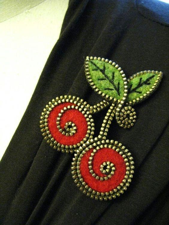Broche de zippers: