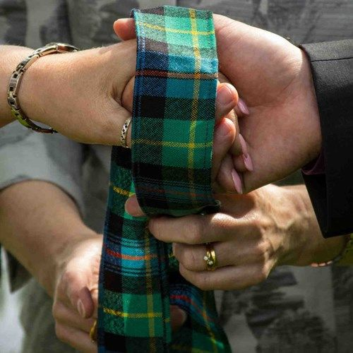 Plaid Handfasting Ribbon in over 500 plaids to embrace my Scottish Heritage