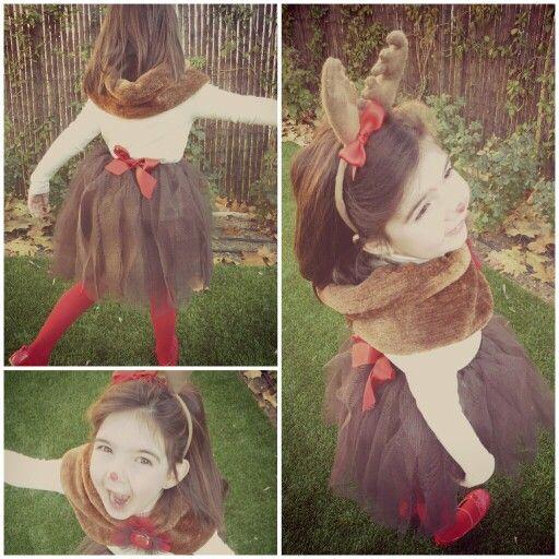 Disfraz casero de reno hecho en casa reindeer costume - Disfraces navidenos originales ...