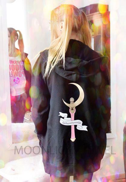 Sweatjacken - Fighting Evil By Moonlight Hoodie - ein Designerstück von Eriza bei DaWanda