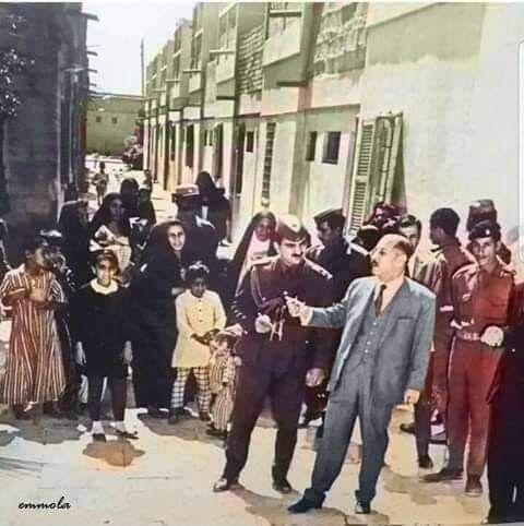 الرئيس العراقي السابق احمد حسن البكر في منطقة اسكان غربي بغداد Baghdad History Memories