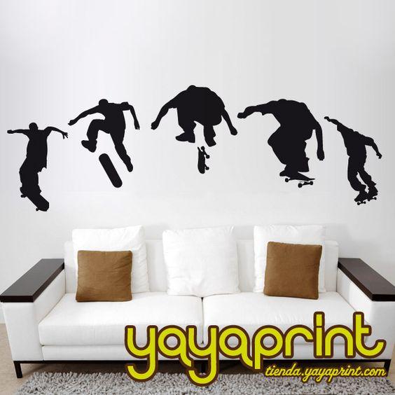 Vinilo decorativo pared skate hecho en espa a yayaprint - Vinilos infantiles madrid ...