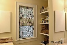 no sew faux roman shades shower curtain repurpose, bathroom ideas, home decor, repurposing upcycling, window treatments, windows