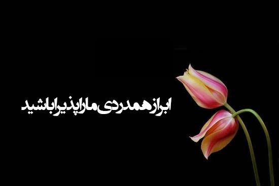 عکس نوشته پیام تسلیت Plants Mlk Farsi