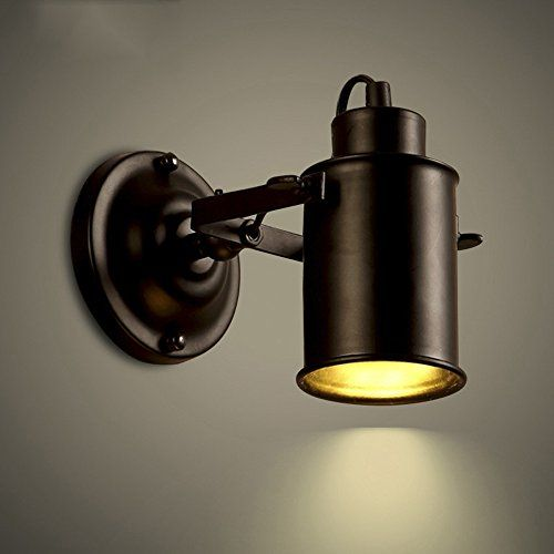 Niuyao Spotlight Metal Cylinder Shade Small Wall Sconce Wall Lamp Lighting Fixture With 1 Light In Black For Living Room Bedroom Dining Room Kitchen Bathroom Wall Lights Wall Sconce Lighting Sconces Wall Lamps