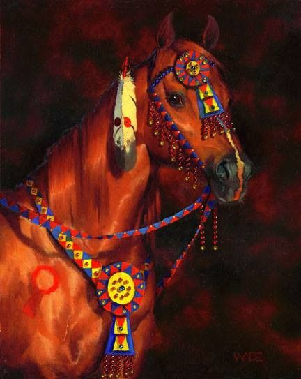 Horse with native american decorations native americans for American indian decoration