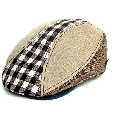 IMTD Retro Linen Flat Cap