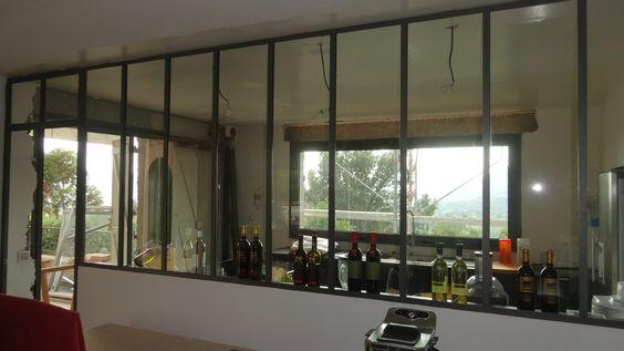 Fen tre panoramique avec ouverture motoris e et for Fenetre atelier ouvrante