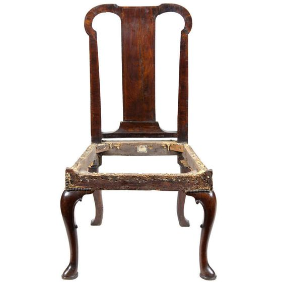 A Mahogany Queen Anne Side Chair, England, Circa 1740 | From a unique collection of antique and modern side chairs at http://www.1stdibs.com/furniture/seating/side-chairs/