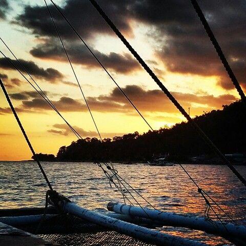 Sunset in Sanighe archipelago