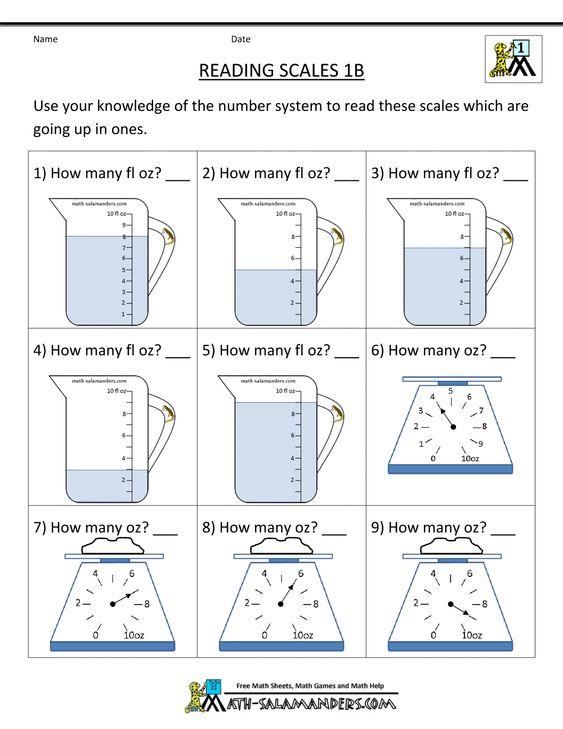 1st grade measurement worksheets reading scales 1000 1294 grade 2 pinterest. Black Bedroom Furniture Sets. Home Design Ideas
