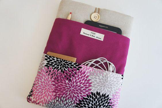 Pink floral iPad Pro ipad mini Sleeve iPad Air Cover iPad von TWIZE