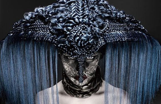 If braiding is considered the magical art of hair styling, then artist Hidenori Nishimura is its magician. Coming from Tokyo, Hidenori uses fake hair to create 3-D braiding art not only on his models heads, but as amazing installations, too.