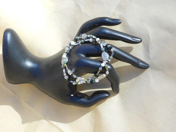 Celtic Heart Beaded Bracelet Free shipping using by LisBeadedThis, $14.00