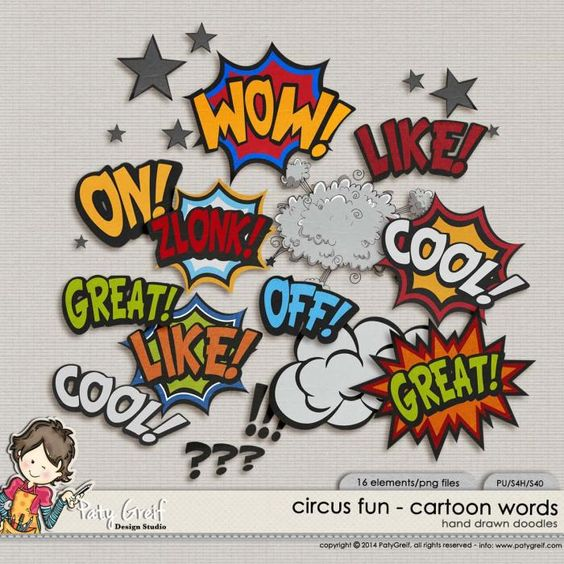 "Circus Fun ""Cartoon Words\"""