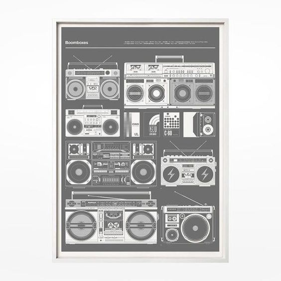 Gifts Ideas: inspired prints with 80 style casete