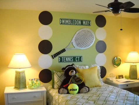 OMG This Tennis Room Is Too Cute Tennis Pinterest Signs Too Cute