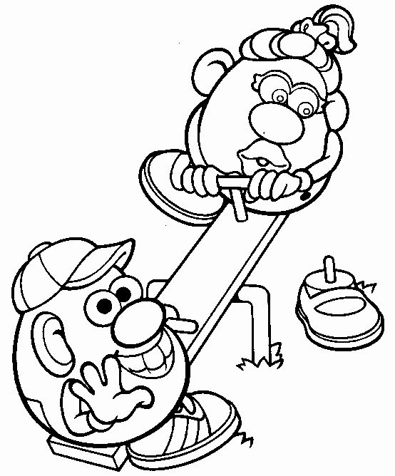 Mr Potato Head Coloring Page Lovely Coloring Pages For Everyone Mr