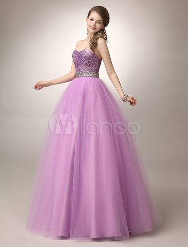 vestidos de 15 lila y blanco