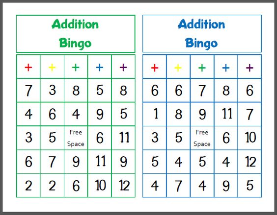 how to play math bingo