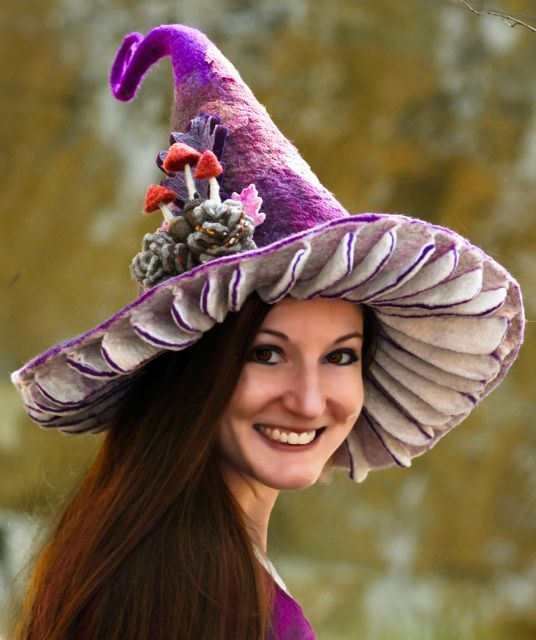 The Pixie Parasol Witch Hat Witch Costume Diy Handmade Witch Hat Witch Hat Diy