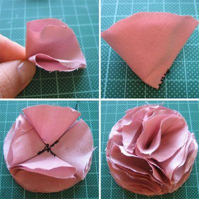 como hacer flores de tela o genero paso a paso arreglos florales