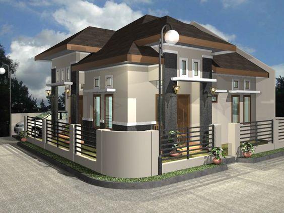 Desain Rumah Mewah Modern 1 Lantai 2015