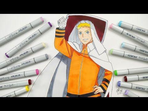 How To Draw Naruto Hokage Step By Step Tutorial Youtube