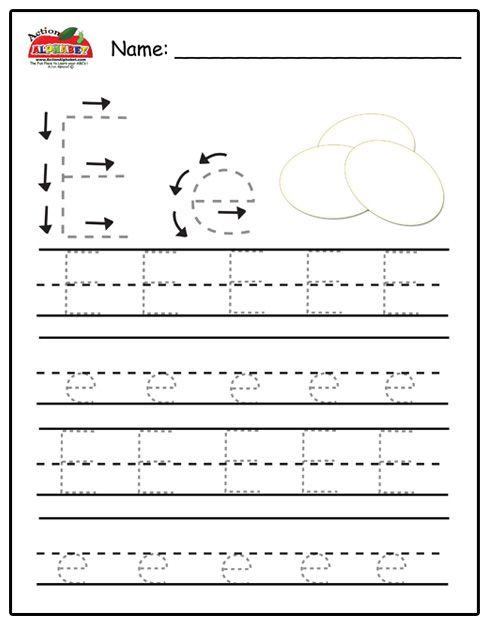 Trace Letters Preschool Lesson Plans Preschool Alphabet Letters Preschool Letters Preschool Writing Letter e tracing for preschool