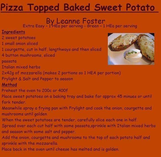Pizza Topped Sweet Potato