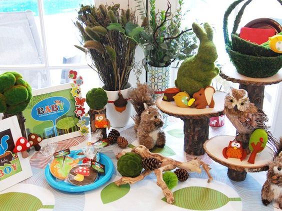 baby shower theme baby shower decoration woodland animal forest