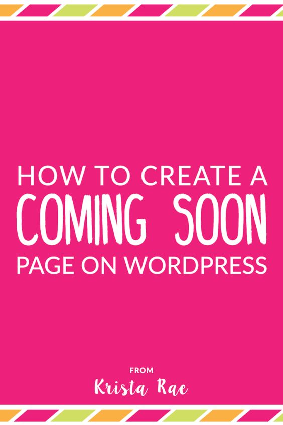 Even before your blog launches you should be collecting email addresses. Here's how to create a Coming Soon page to collect email addresses on WordPress for free!