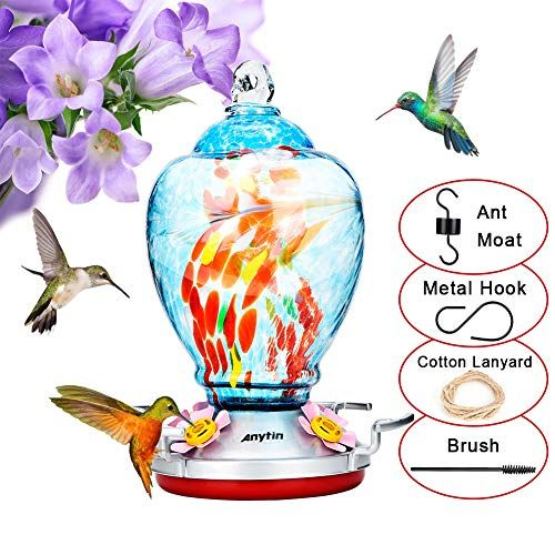 Double Leak Proof Plastic And Rubber Rings Let You Have A Hummingbird Feeder Which Not Le Humming Bird Feeders Glass Hummingbird Feeders Diy Hummingbird Feeder