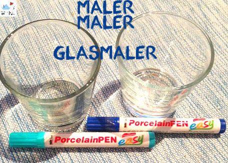 Ein schnelles und einfaches DIY - Glasmalerei . Ihr wollte alte Gläser verschönern, dann schaut euch das DIY - Glasmalerei an