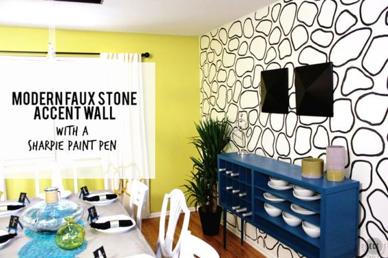 Stone accent walls, Faux stone and Accent walls on Pinterest