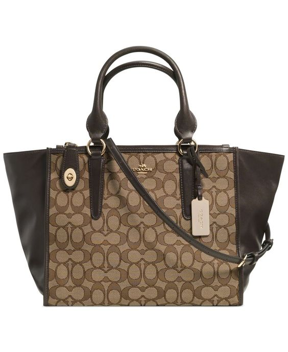 Coach Crosby Carryall In Signature Jacquard