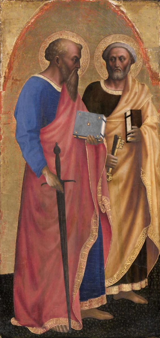 Lateral panel of an altarpiece from Santa Maria Maggiore, Rome; probably begun by Masaccio and finished after his death by Masolino; companion to panels in John G. Johnson collection, Philadelphia Museum of Art (Inv. 409), and in the National Gallery, London (5962, 5963); the Museo e Gallerie Nazionali di Capodimonte, Naples (33,35); and the Pinacoteca Vaticana (no. 245, no. 260)