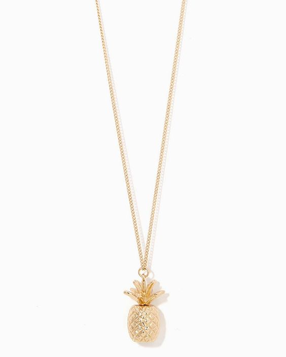 charming charlie | Pineapple Pendant Necklace | UPC: 400000194127 #charmingcharlie